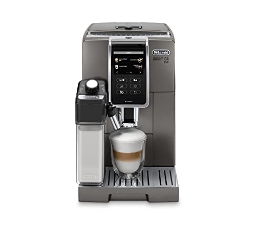 De'Longhi ECAM370.95.T Macchina da caffè Automatica Dinamica, 1450 W, 1.8 Litri, Plastica, Titanio