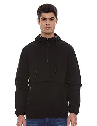 Amazon Brand – Inkast Denim Co. Men's Half Zip Regular Fit Cotton Lightweight Jacket