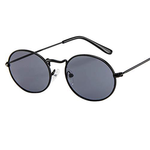 Sonnenbrille Polarisiert für Damen/Dorical Retro Oval Metallrahmen Bonbonfarben Unisex Klein Brille mit UV-400 Schutz Vintage Outdoor Brille Super Coole Frauen Sunglasses Travel Eyewear(A)