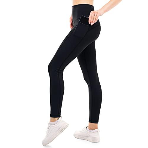 ZENACROSS Damen Slim Fit Leggings - Schwarz M - Fitness, Yoga, Joggen, Workout
