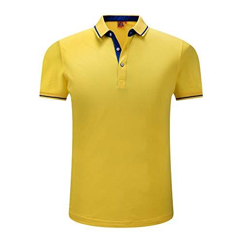 MedusaABCZeus Kurzarm Shirt Uv Schutz T-Shirt,Schnelltrocknende Kurzarmkleidung für Männer, T-Shirt-gelb_L,Poloshirts Damen