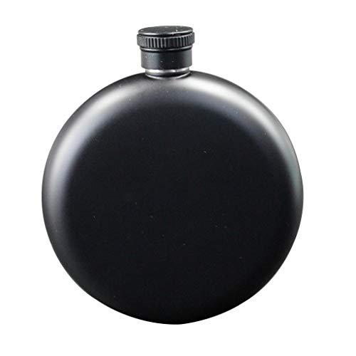 Xu-Flask zwart ronde heupfles 5 ounce, eenvoudig whiskey brandy buitenzuiger, Boy Judi drank spirits platte wijnfles