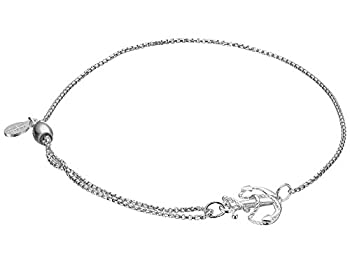 Alex and Ani Path of Symbols Adjustable Pull Chain Bracelet for Women Anchor Charm 925 Sterling Silver 5.5 to 9.5 in