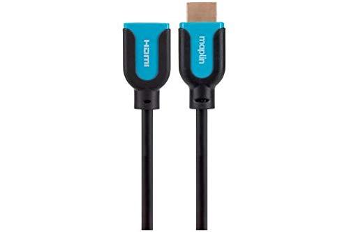MAPLIN Premium HDMI A Mannelijke naar HDMI A Vrouwelijke Verlengkabel 1080p 2K 4K 1,5 m