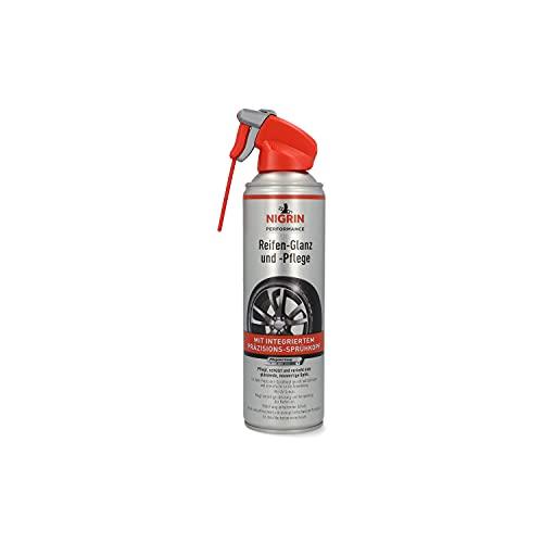 Nigrin Performance Reifen-Glanz und –Pflege, 500 ml, schützt Autoreifen vor UV-Strahlen, Schmutz und Salz