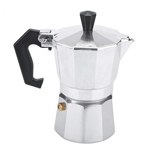 BORDSTRACT Aluminiowy włoski ekspres do kawy Moka Pot do kawy, szybki ekspres do kawy nadaje się do zmielonej kawy w domowym biurze, 100 ml