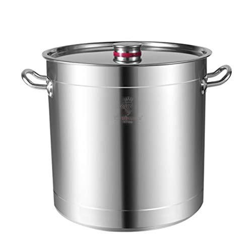 60 litros Pottinerario, Catering Comercial/Doméstico Espeso De Acero Inoxidable Olla De Sopa Con Tapa For Estufa De Gas/Cocina De Inducción (15-140L) (Size : 60L)