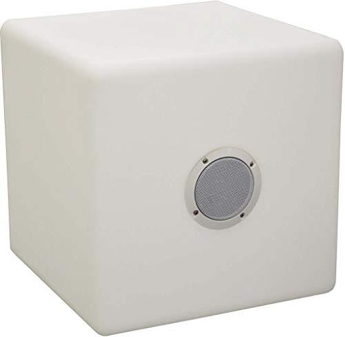 Proloisirs Cube Tabouret LED et Haut Parleur 40 cm