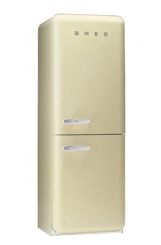 Smeg FAB32RPN1 Independiente 304L A++ Crema de color nevera y congelador - Frigorífico (304 L, SN-T, 10 kg/24h, A++, Compartimiento de zona fresca, Crema de color)