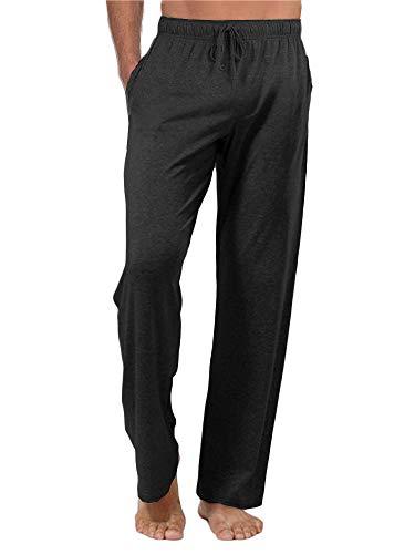Ryannology Mens Casual Pants Plain Elastic Waist Drawstring Loose Fit Pajamas Yoga Beach Summer Sweatpants Jogger Trousers