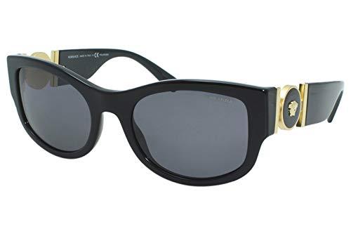Versace 0VE4372 Lunettes de Soleil, Black/Grey, 55/21/140 Femme