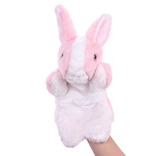 KKPLZZ Marioneta de Guante de Felpa de Conejito de Dibujos Animados Lindo, Guante de Felpa de Conejito de Dibujos Animados Lindo Juguete de Dedo de Conejo para niños Regalo de cumpleaños