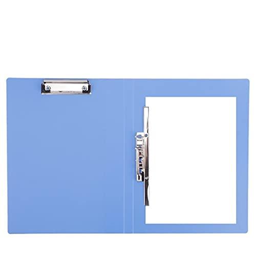 Cartelline Portadocumenti Cartelle colorate 6 pezzi File di plastica stabilita Cartelle Adatto a scuola o in ufficio Documenti aziendali cartella di riunione con le clip di rinforzo (blu) Cartelline