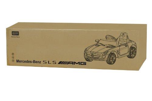 RC Kinderauto kaufen Kinderauto Bild 1: Jamara 404610 - Ride-on Mercedes SLS AMG weiß 40MHz 6V – Kinderauto, leistungsstarker Motor und Akku, bis zu 90 Min Fahrzeit,Ultra-Gripp Gummiring am Antriebsrad,Anschluss von Audioquellen,Sound,Licht*