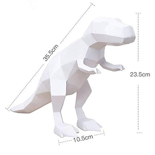 PZAIQ Figuren Statue Gartenfigur Dinosaurier Kunst Skulptur Origami Tiere Dinosaurier Figur Harz Kunst & Handwerk Home Desktop Dekoration Büro