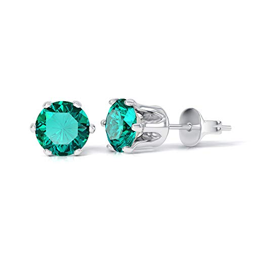 Emerald Birthstone Earrings, made with Swarovski Crystals. May Birthstone Gifts Emerald Earrings for women Green Earrings Green Jewellery May Birthday Gifts. 18ct White Gold Plated.