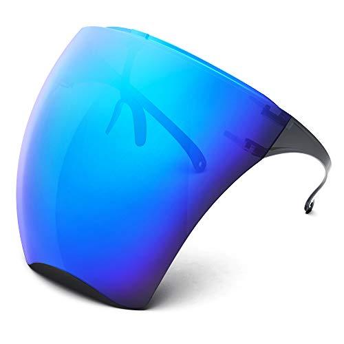 MEIGIX Anti Fog Goggle Sunglasses Unisex Visor Full Face Protective Shield Glasses Fashion Tinted Lens Eyewear (Deep blue)