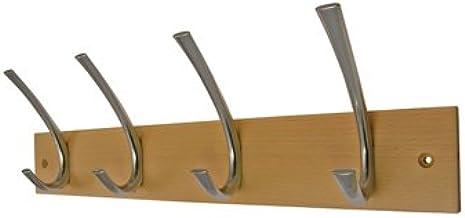 Headbourne hr1020h deurkapstok chroom met fixer 4 haken dubbel