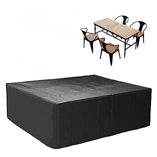 Gartenmöbel-Abdeckung, wasserdicht, 420D Oxford-Gewebe, UV-beständige Schutzbezüge mit Saumkordel und 2 Schnallenriemen für Tisch, Stuhl, Sofa, optionale Größe