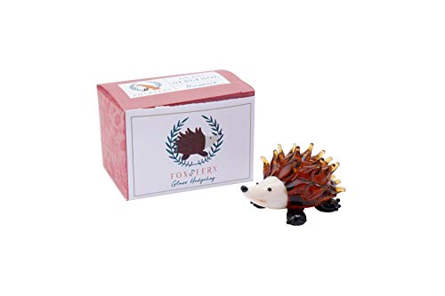 Fox and Fern Glass Ornament Hedgehog Decoration in Gift Box   From CGB Giftware's Fox and Fern's Range   Glass Animal   GB05451