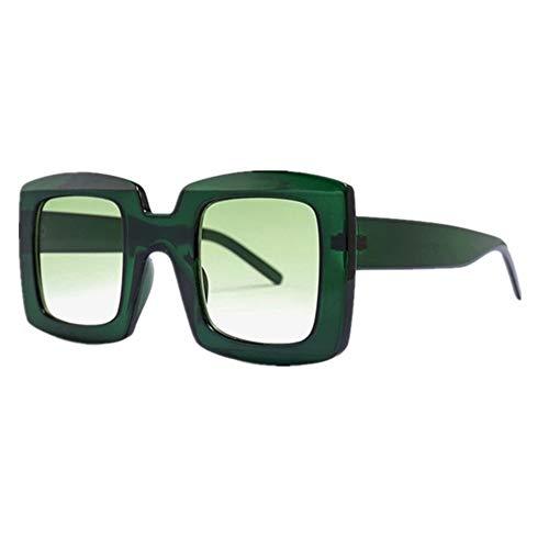 QSLS 1 pc Hombres Gafas de Sol de diseñador Retro Leopardo Cuadrado de los vidrios del Ojo de la Mujer rectángulo de Imagen máxima vidrios del Conductor Gafas de Tendencia de Lujo (Color : B)
