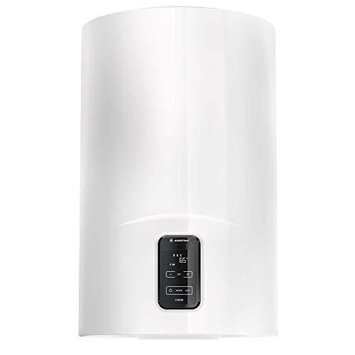 """Ariston Termo eléctrico Lydo Plus, clasificación energética ErP de clase """"B"""", capacidad de 100 litros, tecnología WATERPLUS, tecnología TITANSHIELD, ahorro de hasta el 14% en tu factura de la, 320199"""