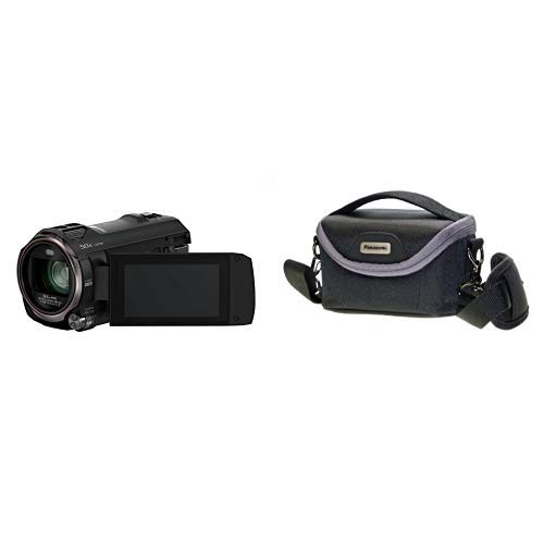 Panasonic HC-V777EG-K Full HD Camcorder ( Full HD Video, 20x opt. Zoom, opt. Bildstabilisator, WiFi, Wireless Twin Camera) schwarz &  VW-PH80XE-K Robuste Softtasche (geeignet für Camcorder schwarz)