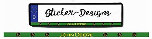 2Stück!50x2cm! Aufkleber/Klebe-Streifen für Kennzeichenhalter!John Deere original grün K22-UV&Waschanlagenfest-Auto-Vinyl-Sticker Profi Qualität-Kratzfest!