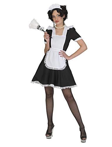 Kostüm Stubenmädchen Minna Größe 44/46 Damen Hausmädchen Sexy Dienstmädchen Zimmermädchen Haushälterin Kleid Schürze Häubchen Berufe Karneval Fasching Pierros
