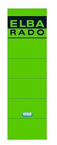 ELBA 100420948 Rückenschilder Rado 10er Pack breit und kurz selbstklebend grün