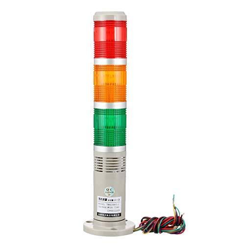 YeVhear - Bombilla intermitente industrial para señal, 90 dB, DC12 V, rojo, verde, amarillo, 31 cm de largo