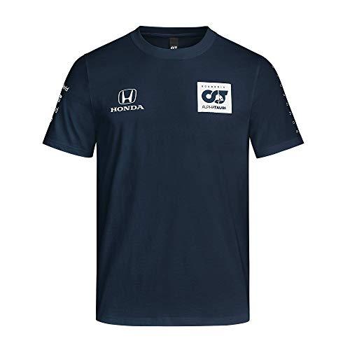 [ ALPHA TAURI ] 2020 スクーデリア アルファタウリ ホンダ F1 Racing Team オフィシャル レプリカ チーム Tシャツ (XL身幅61cm着丈74cm, ネイビー)