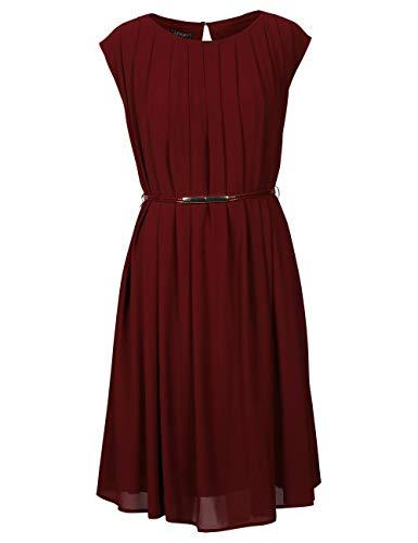 APART Dip-Dye damska sukienka szyfonowa, bordowy, 40