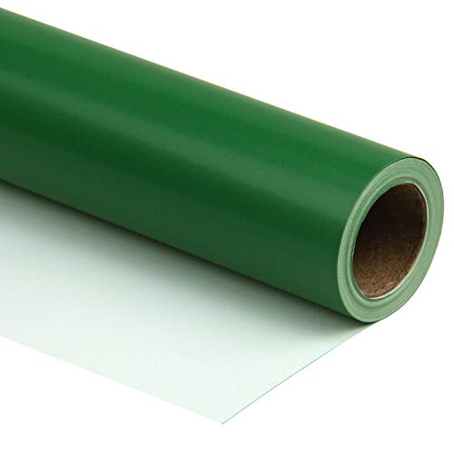 RUSPEPA Green Wrapping Paper Solid Color for Wedding, Birthday, Shower, Congrats, and Holiday - 30 inches x 32.8 feet