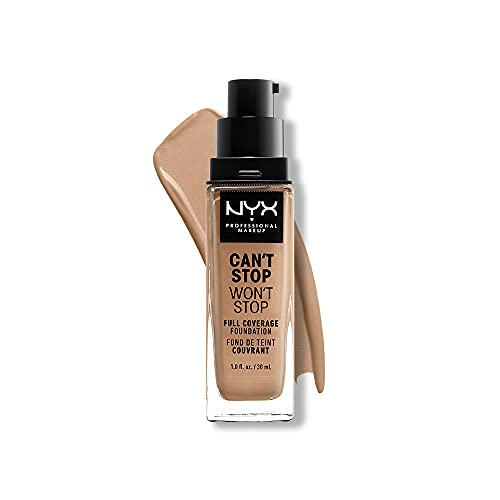 NYX PROFESSIONAL MAKEUP Can't Stop Won't Stop Full Coverage Foundation, Classic Tan (CSWSF12)