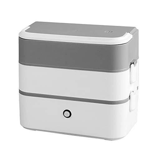 Boîte à déjeuner portable chauffante, double couche enfichable pour cuisson à la vapeur de riz et isolation thermique