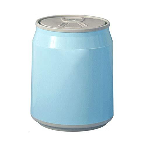 YIFEI2013-SHOP Basura Puede Presione el Tipo de Caja de Almacenamiento Multifuncional de la Mini Papelera del Escritorio plástico de la encimera tacho de Basura (Color : Blue, Size : 1.8L)