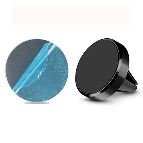 JSBAN Magnético Universal en el Soporte de teléfono móvil Soporte de ventilación de Aire Soporte de teléfono para teléfonos Moviles de neodimio de Uso común (Color : Black)