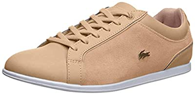 Lacoste Womens Rey Lace 218 1 Natural/White 6 M