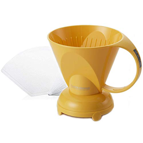 NEW Clever Yellow Coffee Dripper Coffee Maker Safe BPA Free Plastic Hassle-Free Ways Make Manual Pour Over Coffee & Cold Brew, 10 Fl Oz.