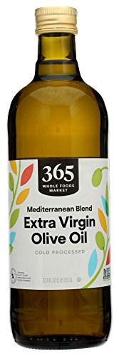 365 by Whole Foods Market, Cold Processed Extra Virgin Olive Oil, Mediterranean Blend, 33.8 Fl Oz