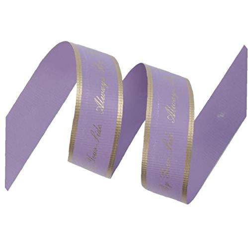 WFIT Rollo De Cinta De Regalo 50 Yardas De Cinta Púrpura De Plástico para Bodas Partes De La Decoración del Arte De DIY Regalo De La Cinta Bolsa