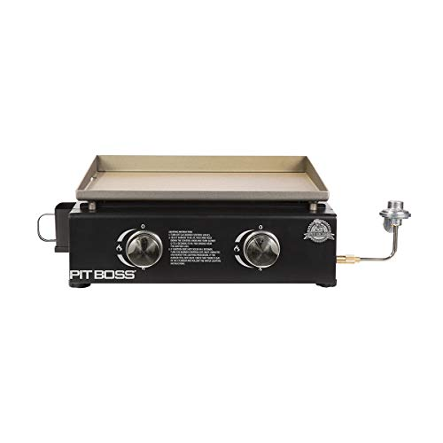 PIT BOSS PB336GS 2 Burner Table Top LP Gas Griddle-Cover Included, Black