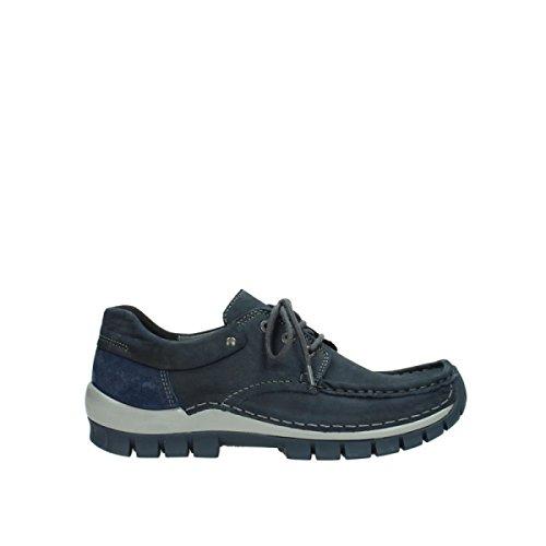 Wolky Comfort Schnürschuhe Fly Winter - 50810 grau-blau geöltes Nubukleder - 42