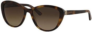 Anne Klein Women's Tortoise Rounded Cat Eye Sunglasses