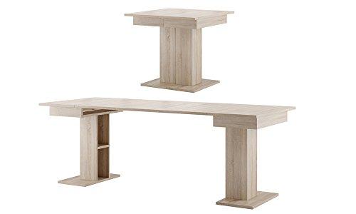 MPS Tisch Küchentisch Esszimmertisch Esstisch ausziehbar 85-220cm (Sonoma Eiche) Star 05
