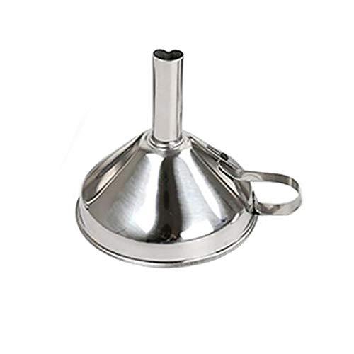 Senrise - Imbuto da cucina in acciaio inox, con maniglie, dimensioni da grandi a piccoli imbuti per il trasferimento di liquidi, liquidi, olio, polvere e marmellata (15 cm)