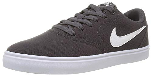 Nike Men's SB Check Solarsoft Canvas Skateboarding Shoe, Unisex Adulto, Gris (Thunder Grey/Summit White/White 21), 39 EU