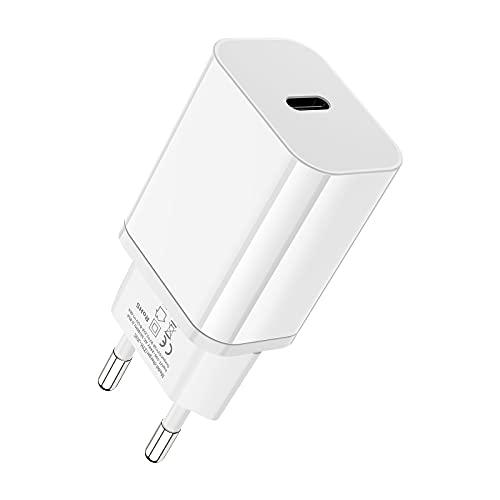 20W USB C Ladegerät, iPhone Ladegerät Schnellladegerät Power Adapter PD Netzteil Fast Charger Stecker Kompatibel für iPhone 13 Pro 12 Mini 11 Pro Max XR XS SE iPad Pro Air
