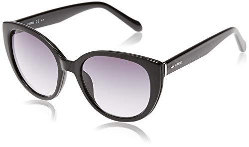 Fossil Women's FOS3063s Cat-Eye Sunglasses, SHINY BLACK, 53 mm